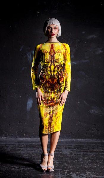 Zuta-uska-haljina